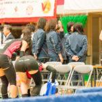 【女子バレー】ピンクと筋肉のコントラスト